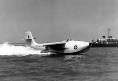 """apostlesofmercy: """" A Saunders-Roe prototype on takeoff at an unknown location and date. The jet powered flying boat fighter conceived for the Pacific theatre was capable of up to 512 mph Me 262, Float Plane, Plane Design, Flying Boat, Thing 1, House In The Woods, Military Aircraft, First World, Aviation"""