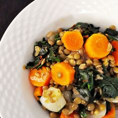 Lentil and Carrot Salad with Kale