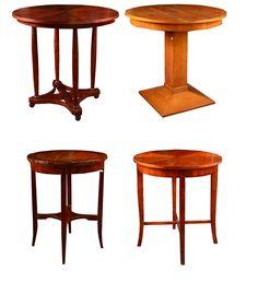 Vintage wooden tables. Cabinet, office or living room.