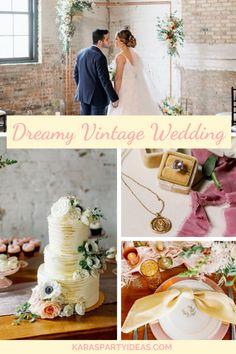 Karas Party Ideas Dreamy Vintage Wedding | Karas Party Ideas