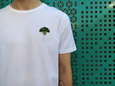 Broccoli - Hand Embroidery on T-shirt // Special edition