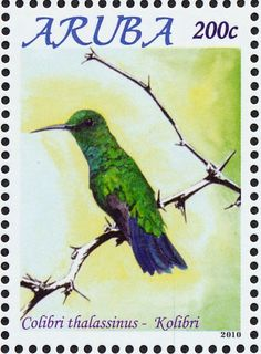 Green Violetear stamps - mainly images - gallery format