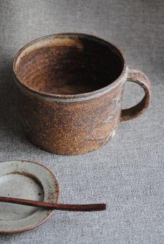 林拓児「化粧焼き締めマグカップ(太)」です。