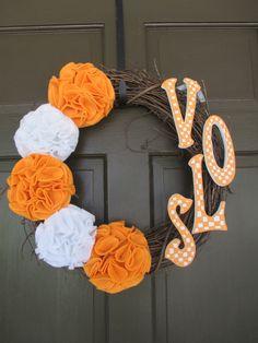 2014 Wreaths Decor Ideas - Deco Mesh Tennessee Vols Mesh Wreath - LoveItSoMuch.com