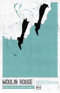 Moulin Rouge Creativos y minimalistas posters de películas