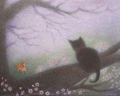 "Saatchi Online Artist Noriko Senshu; Painting, ""A Cherry Tree"" #art"