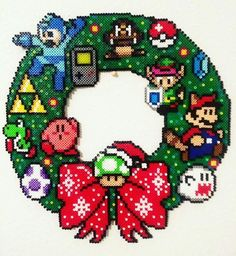 Perler Gaming Holidays Bead Art | Video Game Art ...