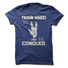 train hard and conquer T-Shirts, Hoodies. VIEW DETAIL ==► https://www.sunfrog.com/Sports/train-hard-and-conquer.html?id=41382