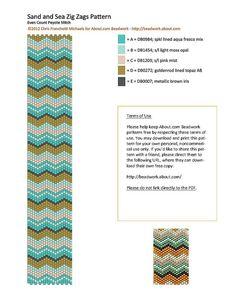 Make a Sand and Sea Zig Zags Peyote Stitch Bracelet