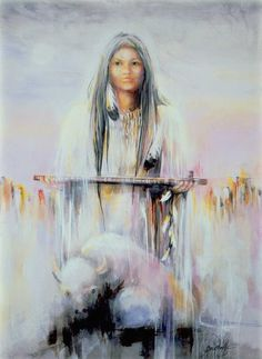White Buffalo Calf Woman - greatest prophet of the lakota nation - bringer of the pipe ceremony & prayer to the nation