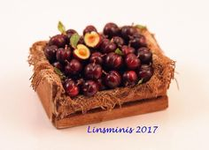 12th Scale Miniature ** Plum Crate **...IGMA Fellow #Linsminis