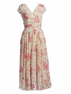 Flower Print Long Chiffon Dresses & Dresses - at Jollychic