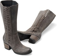 Shop Women's Born Gray size 7 Heeled Boots at a discounted price at Poshmark. Description: Full-grain leather, suede lining, rubflex outsole. Heeled Boots, Shoe Boots, Born Boots, Wedding Boots, Older Women Fashion, Comfortable Boots, Fashion Boots, Fashion Edgy, Fashion Trends