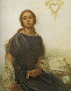 Retrato de Jaroslava, Alphonse Mucha