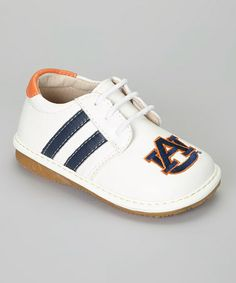 Take a look at this Auburn Tigers Squeaker Sneaker by Squeak Me Shoes on #zulily today!