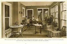 An Ideal Sunroom from 1915 pre-finished woodwork brochure