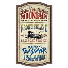 Frontierland Attractions Wall Sign - Walt Disney World | Disney Store