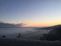 View over StocklandEast Devon at sunrise on Monday.