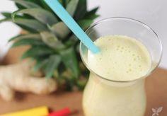 Jus à l'ananas et au gingembre pour traiter la cellulite