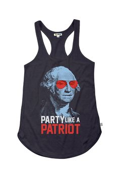 Women's Party Like a Patriot Tank Top   Tipsy Elves