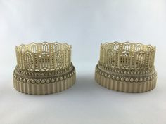 Two astonishing and distinguished extremely rare ivory coasters, Dieppe (France) carving c.a. 1850 - call. Danilo +39 335 6815268