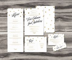 Gold foiled wedding invitation design by Maiko Nagao