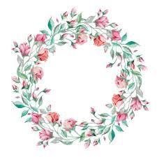 Risultati immagini per flores en acuarelas marco o bordes