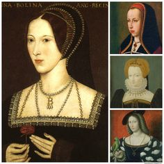 A composite image showing Anne Boleyn, Margaret of Austria, Claude of France, and Marguerite of Navarre | Born a courtier and educated with royalty abroad, Anne Boleyn was a true Renaissance woman.