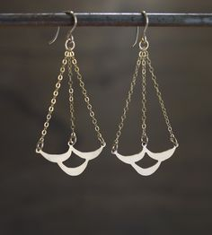Emily Cloud Gold Earrings | These scallop drop earrings are drop dead gorgeous. This whims... | Earrings