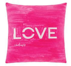 Cathie Maney Young Hearts 40x40cm Filled Cushion Pink