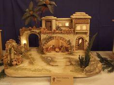 Click to Close Christmas Cave, Christmas Crib Ideas, Christmas Decorations, Xmas, Holiday Decor, Diy Crib, Medieval Houses, Nativity Crafts, Fairy Houses