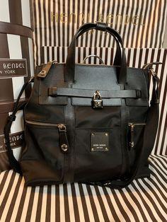 315ef46339 NWT Henri Bendel Large Black Jetsetter Backpack Purse Sold Out Online   fashion  clothing