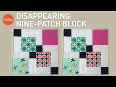 Quilting Blocks: Disappearing Nine Patch Quilt Block Tutorial Missouri Quilt Tutorials, Quilting Tutorials, Quilting Designs, Quilting Ideas, Quilting Projects, Sewing Tutorials, Charm Pack Quilts, Charm Quilt, 9 Patch Quilt