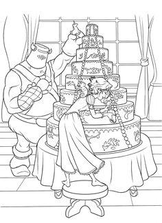 Disney Coloring Pages Rapunzel Wedding