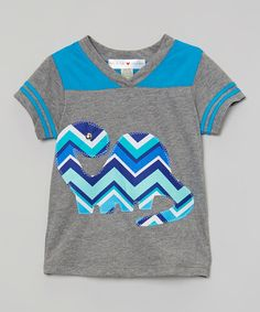 Look at this Gray & Blue Dino Tee - Infant, Toddler & Boys on #zulily today!