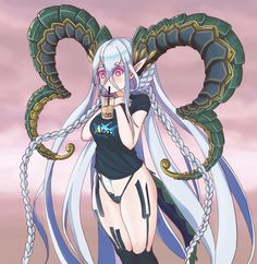 alright have another Tiamat (done by also yes i needed to do that memes for her come on! check info in the comments - grandorder Anime Girl Cute, Anime Art Girl, Chica Anime Manga, Kawaii Anime, Zombina Monster Musume, Cute Anime Character, Character Art, Fantasy Characters, Anime Characters
