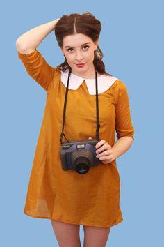 SHOP | Suzy Bishop mustard dress
