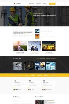 Manufactory - Industrial WordPress Theme #WordPress #Industrial #Manufactory #Theme