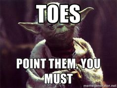 Dance and star wars! I love this picture XD I'm guilty of not pointing my toes