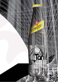Schweppes goes black white and yellow. vincent Black and white illustrated Graphic Art, Graphic Design, Advertising, Ads, Packaging Design, Product Packaging, Creative Design, Creative Ideas, Poster