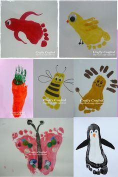 peinture avec les pieds - Recherche Google pour droule doiseaux lion abeille papignion