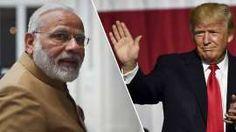 TWITTER-KONGER: I dag møtes Modi og Trump for første gang.