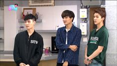 """Lay looks so disgusted,Kai is trying to control his laughter and Sehun is just like """"b*tch I'm better that you"""" Exo Ot9, Sehun, Rain Kpop, Funny Kpop Memes, Military Wife, Best Deals Online, Kai, Adidas Jacket, Rain Jacket"""