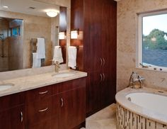 Master Bath- double vanity; tile detail