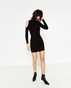 Image 1 of CUT-OUT SLEEVE DRESS from Zara
