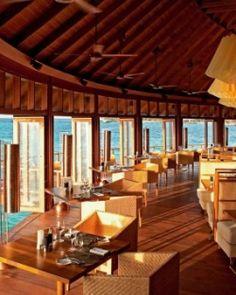 Constance Halaveli Resort ( Maldives ) Dine on Asian-inspired dishes at Jing and pair with a rare vintage from the wine cellar. #Jetsetter #JSBeachDining