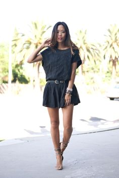 Song of Style: Summer Black Dress