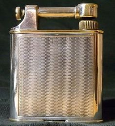 1920-s-30-s-VINTAGE-DUNHILL-PLATED-CIGARETTE-LIGHTER