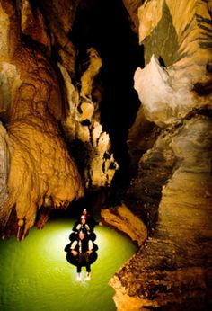 (Tourism New Zealand) Coolest Underground Activities: Try black water rafting (Adventure hotspot New Zealand has white water rafting nailed, but for something a little different, try black water rafting through underground caves. Also known as cave tubing, black water rafting takes adrenalin junkies down a river in the Waitomo Caves on an inflated rubber tube. The attraction offers the best of backwater rafting organised by the Black Water Rafting Company, with caving, tubing, climbing…
