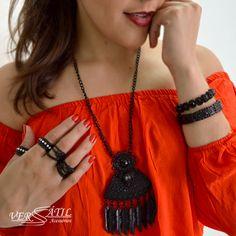 http://www.versatilacessorios.com.br/ #mixdeacessorios #bijoux #black
